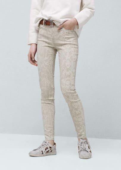 Printed cotton jeans | MANGO