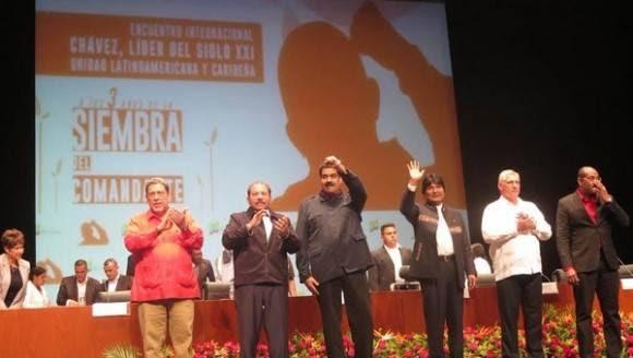 Líderes políticos y sociales de Venezuela y el mundo participan en el Foro internacional Chávez: líder del siglo XXI, unidad latinoamericana y caribeña.  Foto: @PresidencialVen