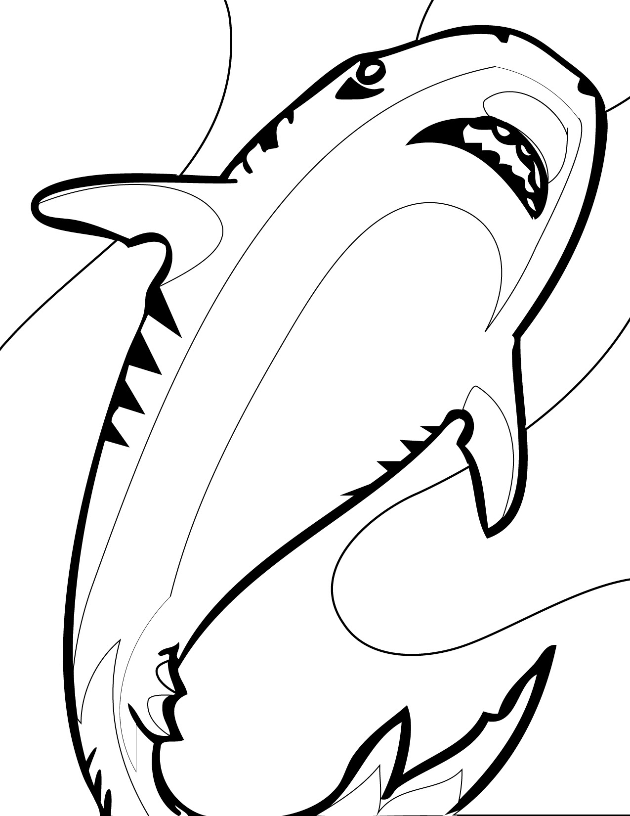 Bull Shark Coloring Page at GetDrawings | Free download