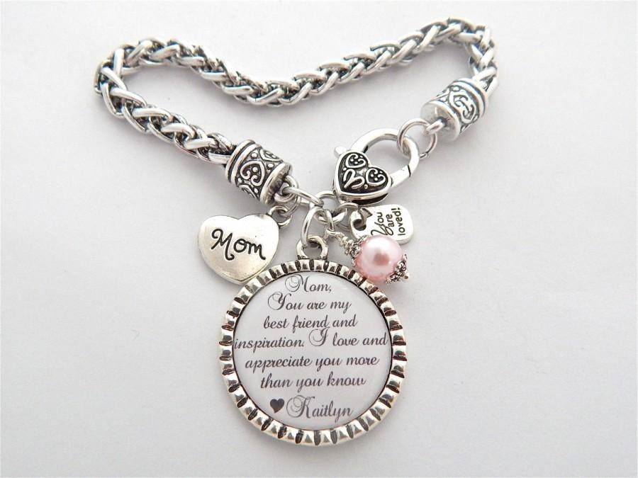 Mother Of The Bride Bracelet You Are My Best Friend And Inspiration