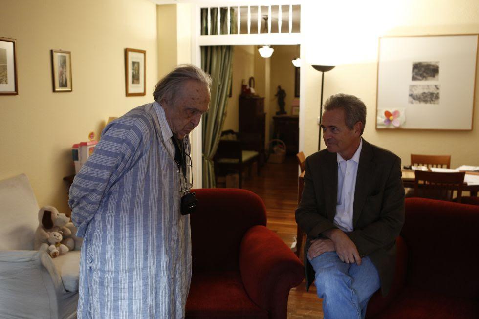 Rafael Sánchez Ferlosio y José Luis Pardo durante la conversación.