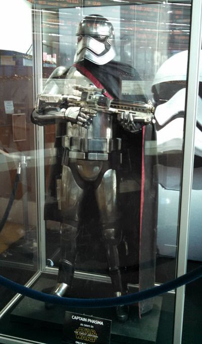 Captain Phasma's armor from STAR WARS: THE FORCE AWAKENS...on display at ArcLight Cinemas in Hollywood.