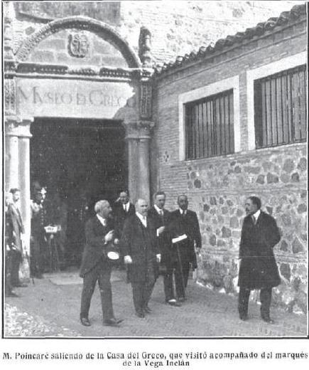 Raymond Poincaré y Alfonso XIII en Toledo en octubre de 1913. Revista Mundo Gráfico