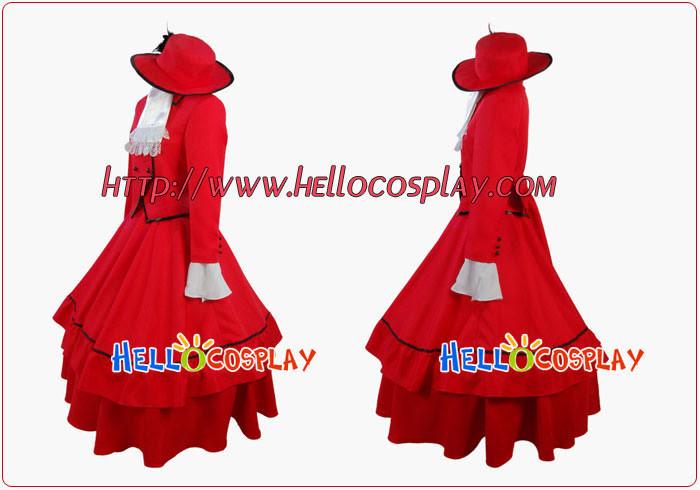 Black Butler Cosplay Kuroshitsuji Madam Red Costume