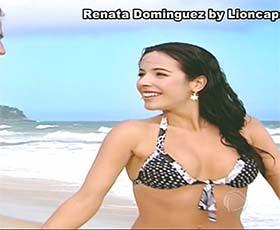 Renata Dominguez sensual na novela Bicho Mato