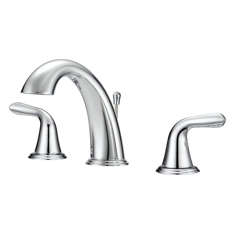 Project Source Chrome 2 Handle Widespread Watersense Bathroom Sink Faucet With Drain In The Bathroom Sink Faucets Department At Lowes Com