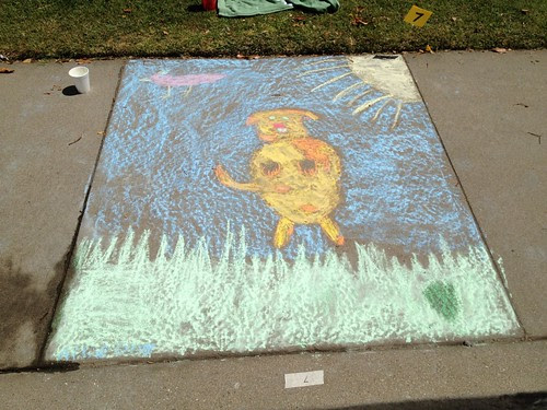 Spreckels+Chalk+in+the+Park+Dog+Jumping+for+a+ball+Chalk+art
