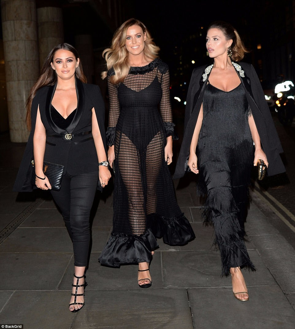 Glam girls: Courtney was joined by her best pals and co-stars Chloe Meadows and Chloe Lewis