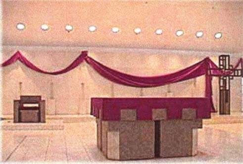 Interior de una iglesia novus ordo