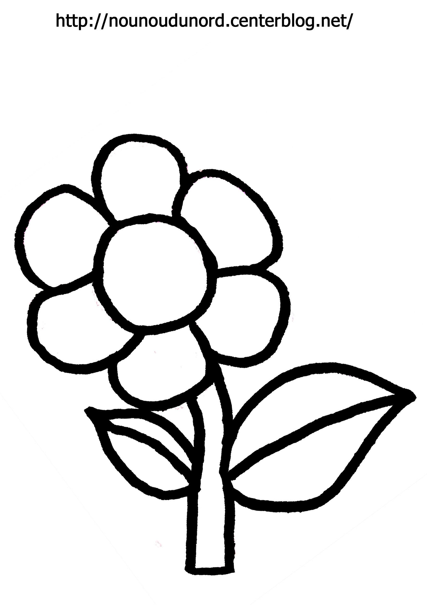 coloriage fleur dessiné