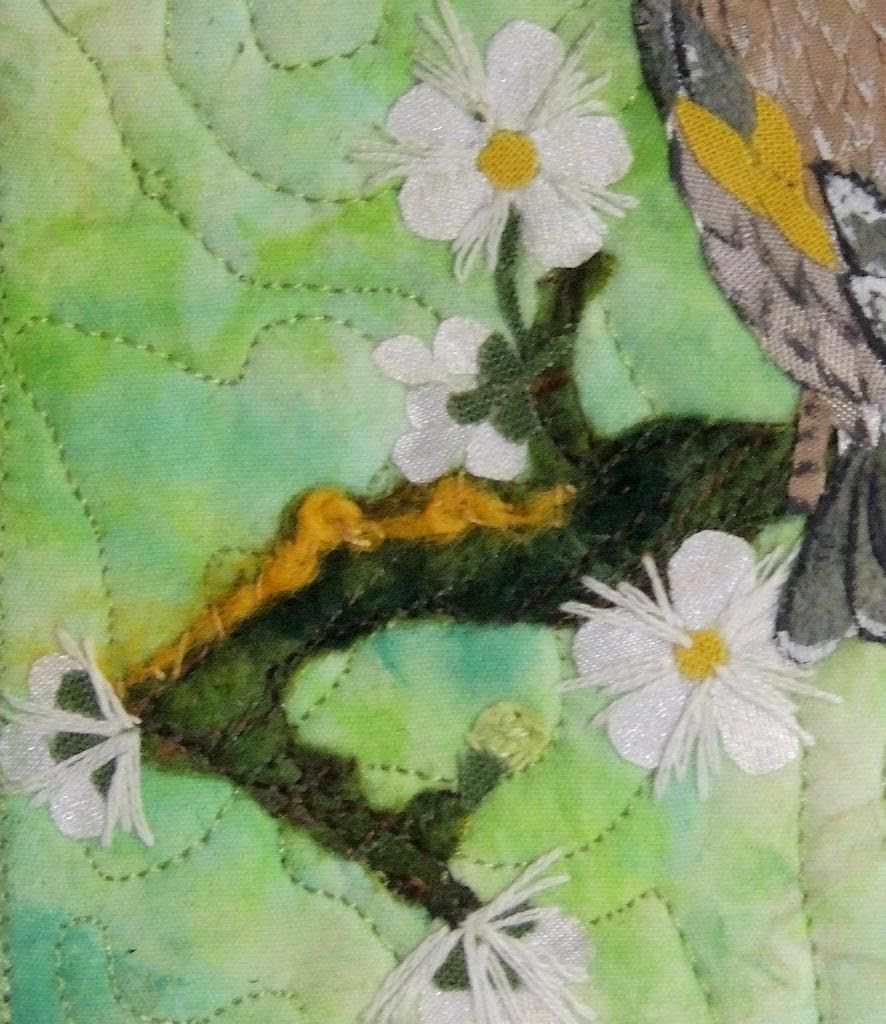 Goldfinch background - branch with flowers - Kit Lang