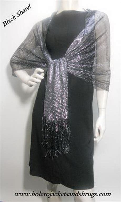 silver shawls  evening dresses