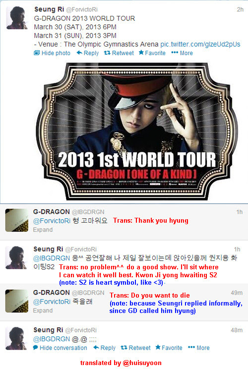 Gdragon Sns Twitter Pair Gri With G Dragon Sns Other Twitter Fyeahseungri