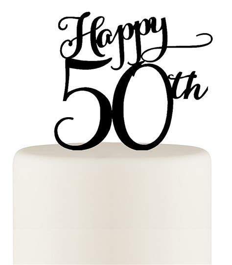 Happy 50th Birthday or 50th Anniversary Cake Topper