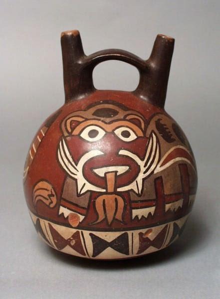 Nazca Double-spouted Pot