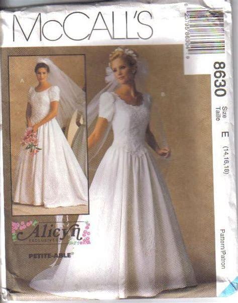 OOP Bridal Wedding Gown Bridesmaid Dress Plus Size McCalls