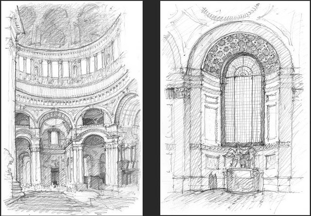 Saint-Pauls-left-Crossing-Nave-Window-Clay-Sketch