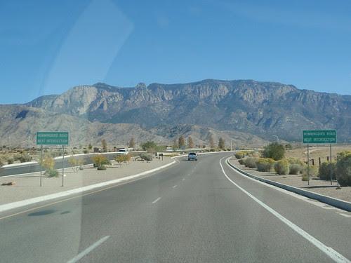 toward sandia peak