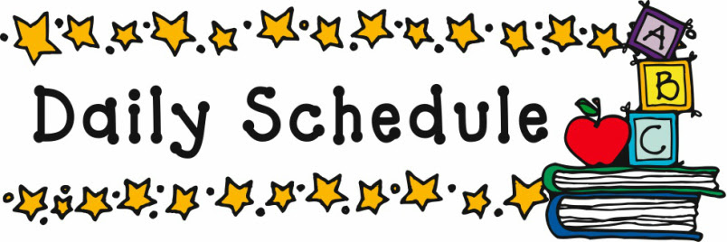 Daily Schedule Sign