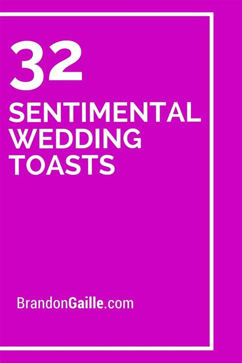 sentimental wedding toasts messages  communication
