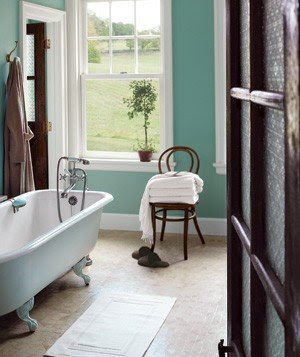 A calming color on the walls―like this rich blue-green ...