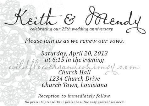 Surprise 25th wedding anniversary invitations : 25th