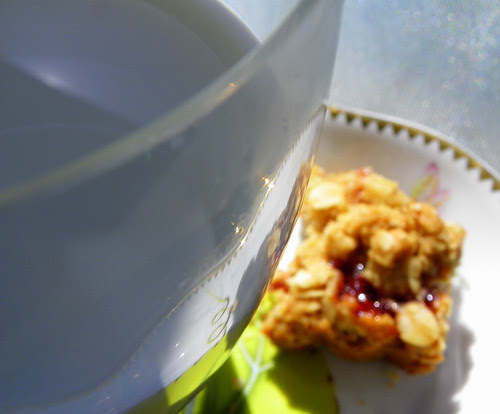 milk and strawberry square