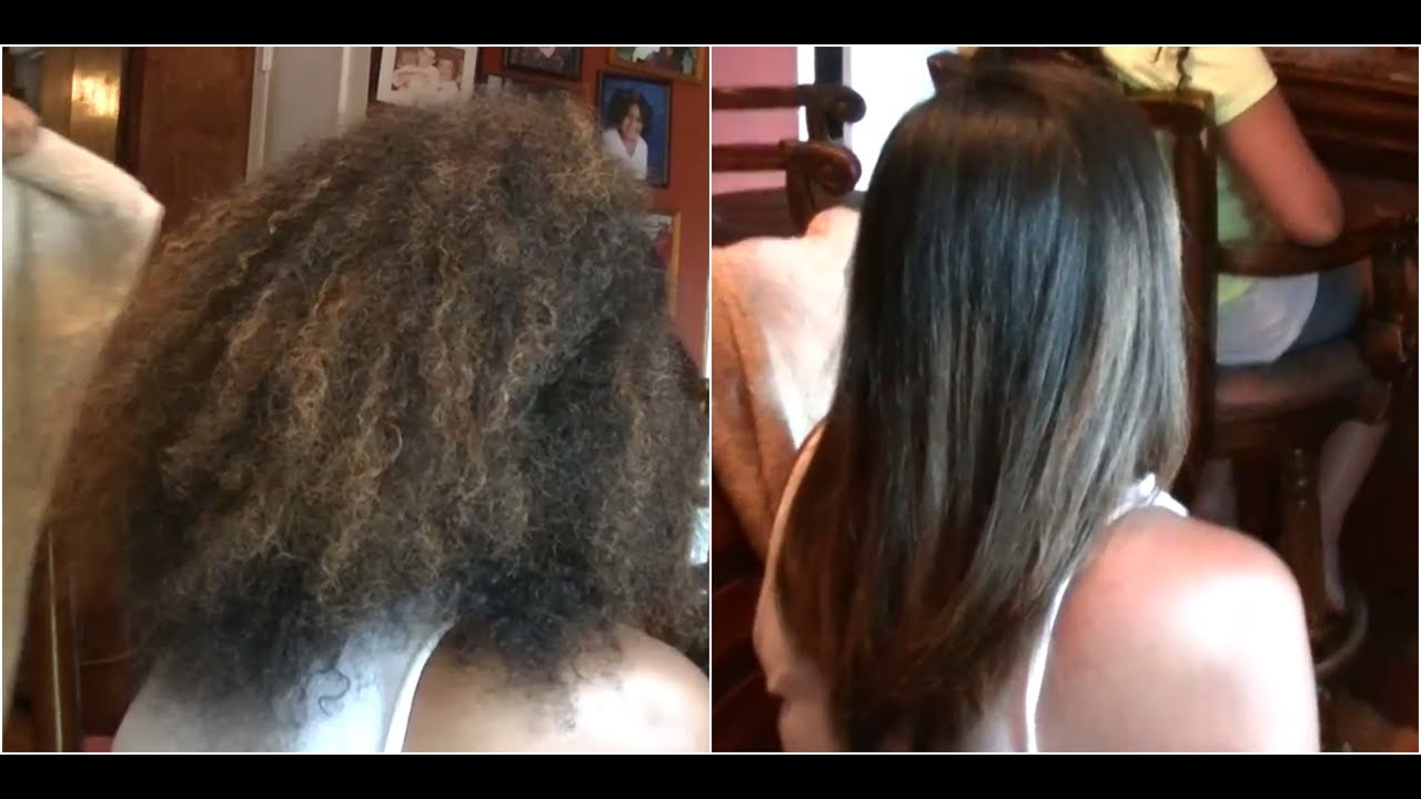 Frizz Free Hair Keratin Treatment on Natural Hair Straightening Curly Hair Kimmy Boutiki  YouTube