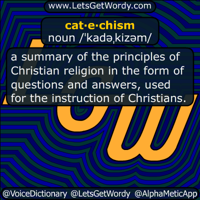 catechism 06/03/2018 GFX Definition