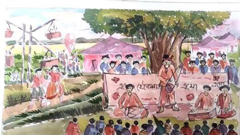 draw scenery  pohela boishakh festival   st