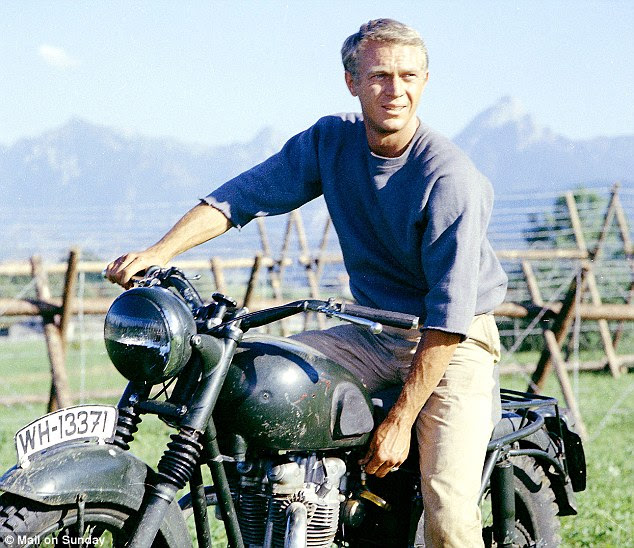 War classic: Steve McQueen on the set of the classic movie, The Great Escape