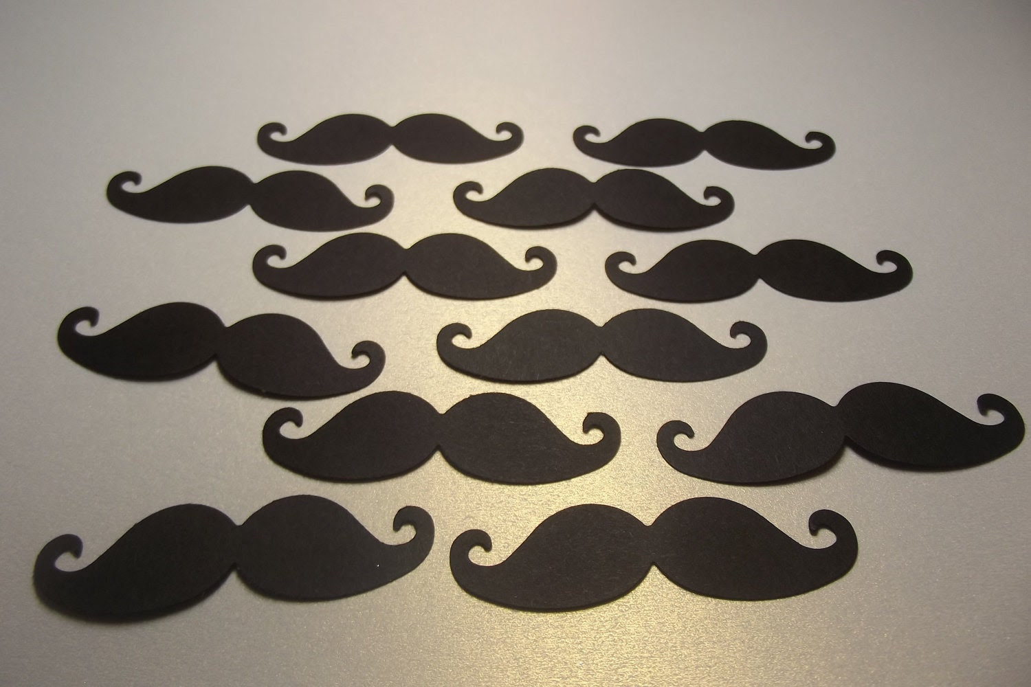 100 Black Mustache Diecuts/Table Confetti/Party Supplies/Embellishments - KelliesPaperPlace