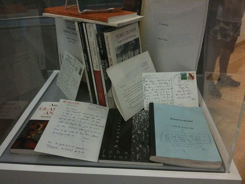 New Directions books in a vitrine
