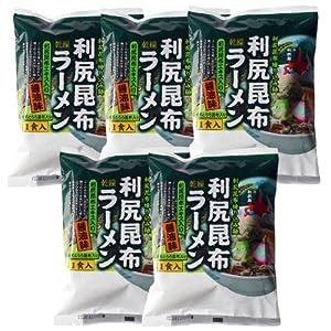 ミツヤ 利尻昆布ラーメン醤油 1食×5袋