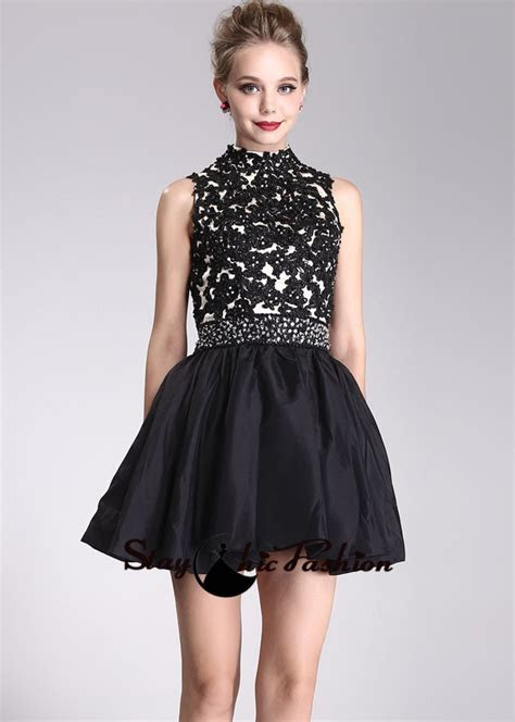 Formal dresses image: Semi formal black lace dress