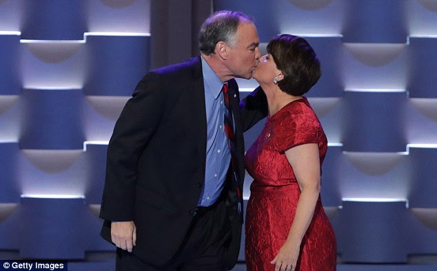 Proud of you! Kaine said he spent a lot of time with a lot of Republicans senators who, once they've made sure nobody's listening, will tell you how fantastic a senator Hillary Clinton was