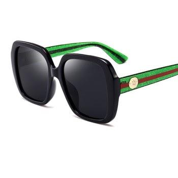 5f8c0de05cf Polarized Brand Designer Luxury Sunglasses Women Oversized Square Mens  Sunglasses Eyewear UV400 Drive Red Green
