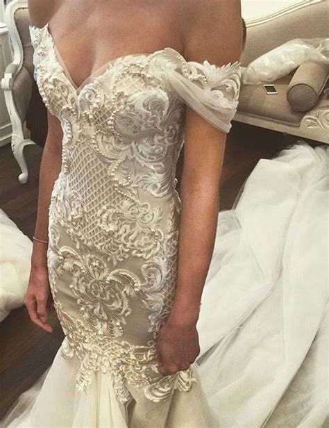 Mermaid Off the Shoulder Court Train Wedding Dress with