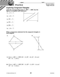 Congruent Triangles Practice Worksheet Answers  congruent triangles worksheet 2triangle