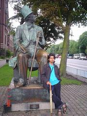 Statue Hans Christian Andersen, Copenhagen, Denmark