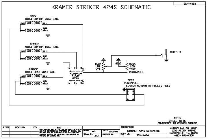 Kramer Striker 600st Wiring Diagram