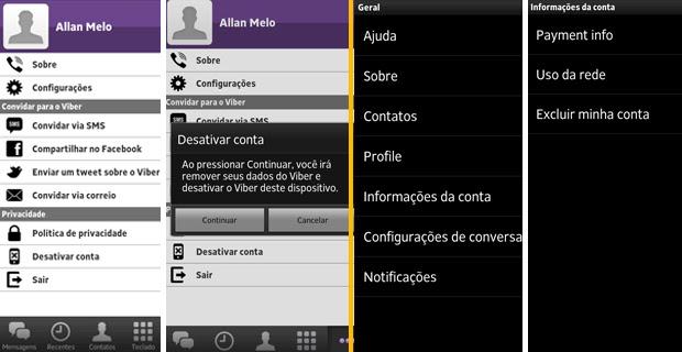 Desativando o Viber e o WhatsApp (Foto: Reprodução/TechTudo)