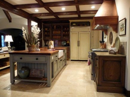 Kitchen painted with Farrow & Ball's French Gray