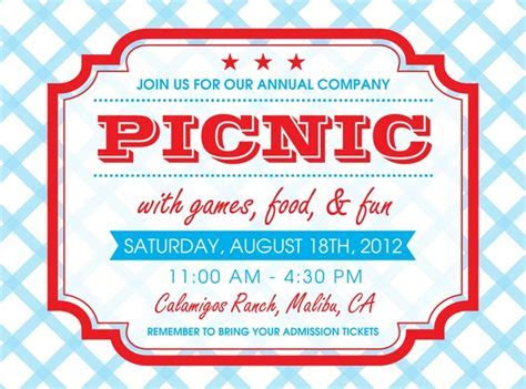 Company Picnic Invitations!   The Curious Mind of Mia
