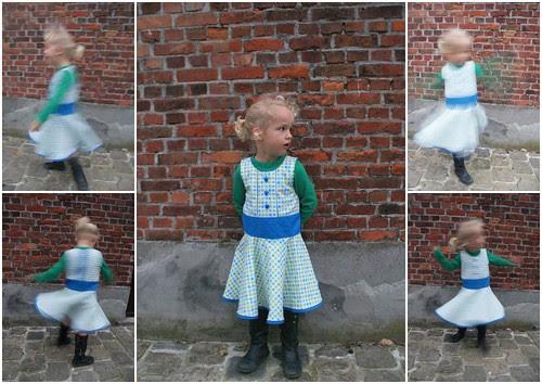 Stella in her new dress