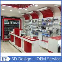 Custom Popular Retail Wood Glass Mobile Shop Counter Design For