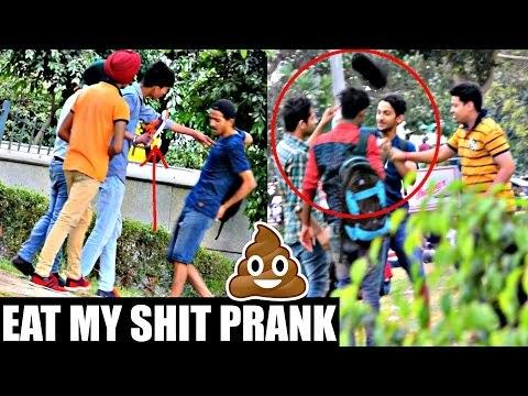 Eat My Shit (GU KHA LO) Prank in INDIA!! ( PRANK GONE WRONG) | AVRprankTV