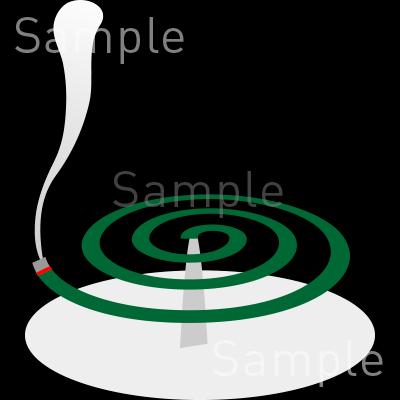 蚊取り線香の無料イラスト素材登録不要のイラストぱーく