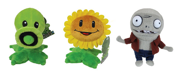NEW 3x Official Jazwares Plants vs Zombies Plush - Pea ...