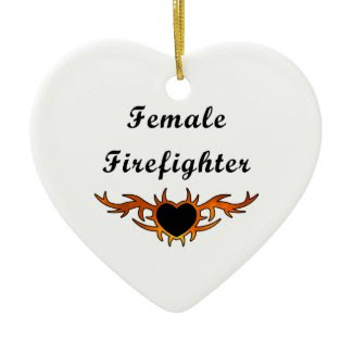 Female Firefighter Tattoo ornament